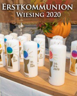 Zu den Fotos der Erstkommunion Wiesing 2020